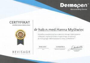 Certyfikat Revisage