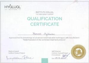Certyfikat HYAUAL