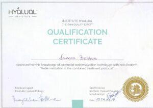 Certyfikat HYALUAL