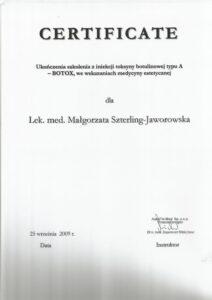 Certyfikat restylane