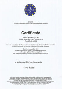 Certyfikat zberlina