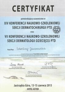 Certyfikat sekcji dermatologii dziecięcej