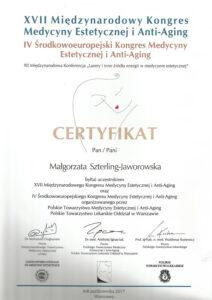 Certyfikat - Lasery iinne źródła energii