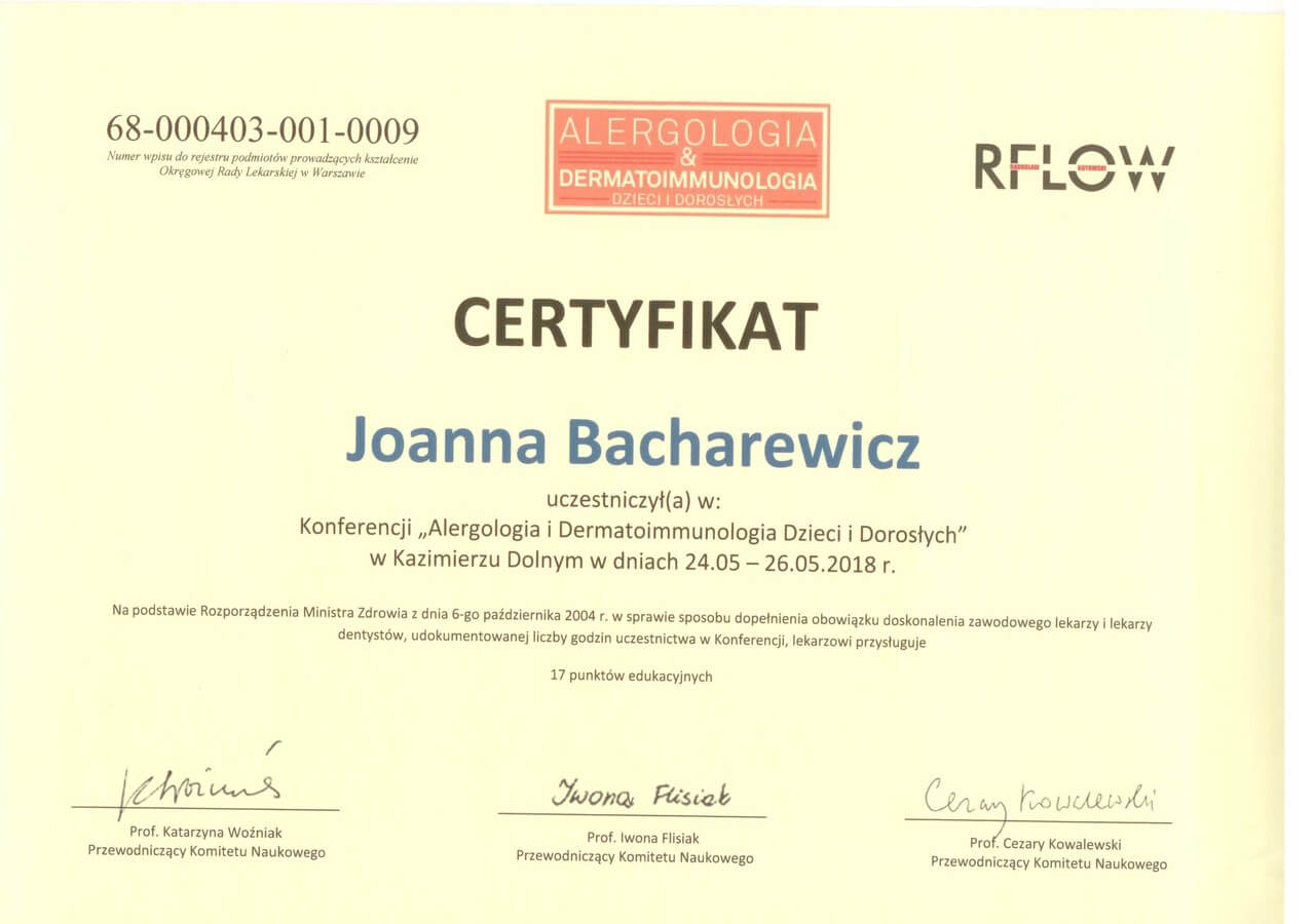 dr n. med. Joanna Bacharewicz-Szczerbicka