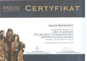 Certyfikat - polskie towarzystwo dermatologiczne