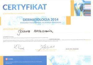 Certfikat Dermatologia 2014