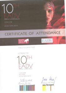 Certyfikat EADV