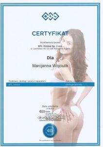 Certyfikat BTL Polska Sp. z.o.o. BTL Unison