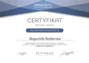 Certyfikat Dermaceutic laboratoire