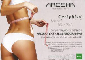 Certyfikat Arosha - Easy slim programme