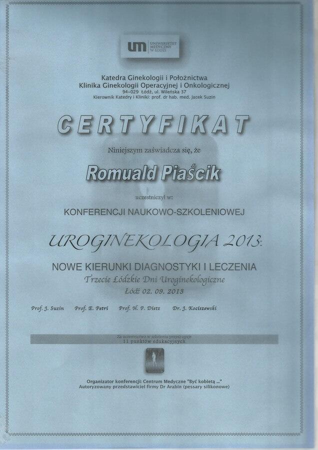 dr n. med. Romuald Piaścik
